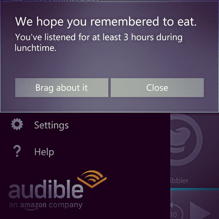 Audible app is trolling me, right to my face! 😒 #books #book #read #audible #reading #reader #page #pages #paper #instagood #kindle #nook #library #author #bestoftheday #bookworm #readinglist #love #photooftheday #imagine #plot #climax #story #literature #literate #stories #words #audiobook