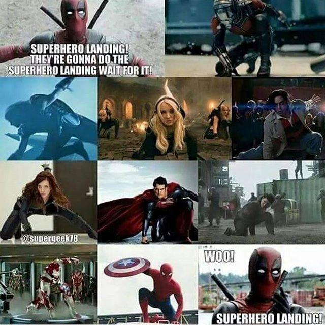 It puts a strain on your joints 😜 regram @comicology_ Superhhero entry 😂 #deadpool #marveluniverse #marvels #marvelcomics #dc #comics #avengers #thor #hulk #spiderman
