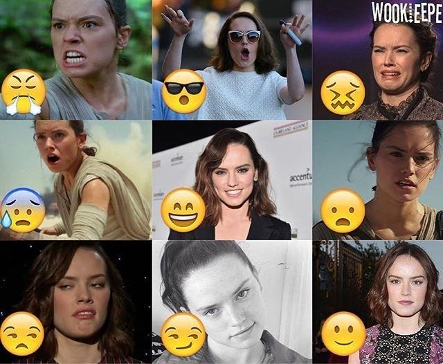 The first one is the best.  regram @starwarsjokes Emojis of beautiful Daisy! (@wookieepedia_)  #starwarsjokes #funny #starwars #anakin #obiwan #darthvader #skywalker #palpatine #jokes #laugh #lol #deathstar #stardestroyer #lmao #stormtrooper #clonetrooper #padme #ashokatano #clonewars #starwarsrebels #sith #jedi #theforceawakens #battlefront #eastarwars #luke #rebels #galaxy #space