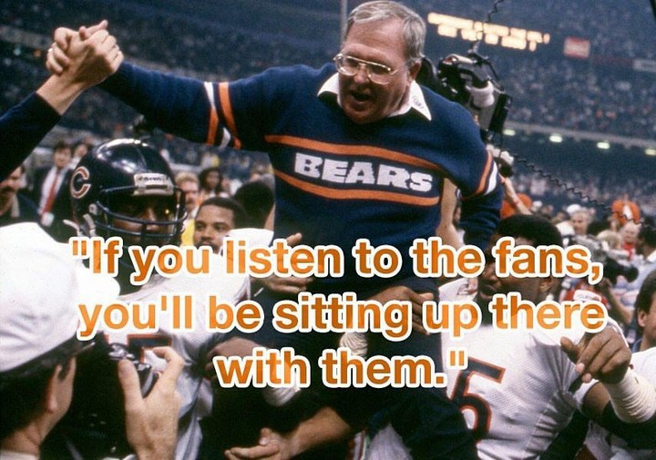 "#regram via @copromote """"If you listen to the fans, you'll be sitting up there with them."". #rip #buddyryan #wednesdaywisdom"""