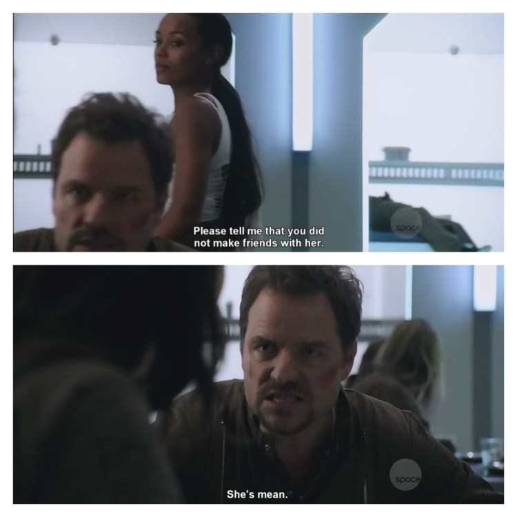 Boone gets the best lines… #darkmatter #scifi #spaceopera #tvseries #boone #nyx