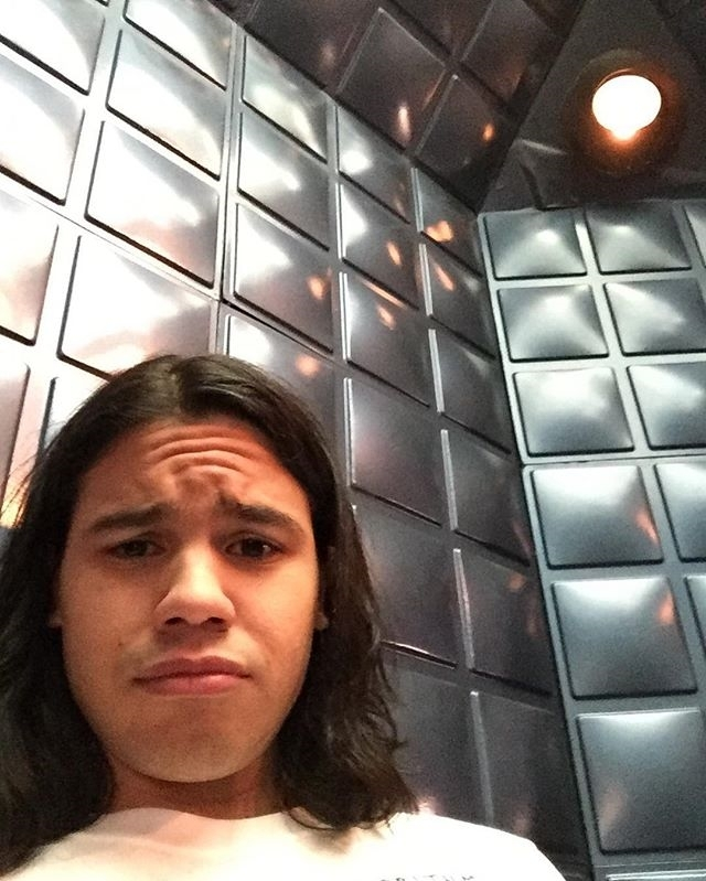 Cisco, vibing his way through plot holes since 2014. regram @cwtheflash Locked in the Cortex, where no one can hear you scream #ChroniclesOfCisco