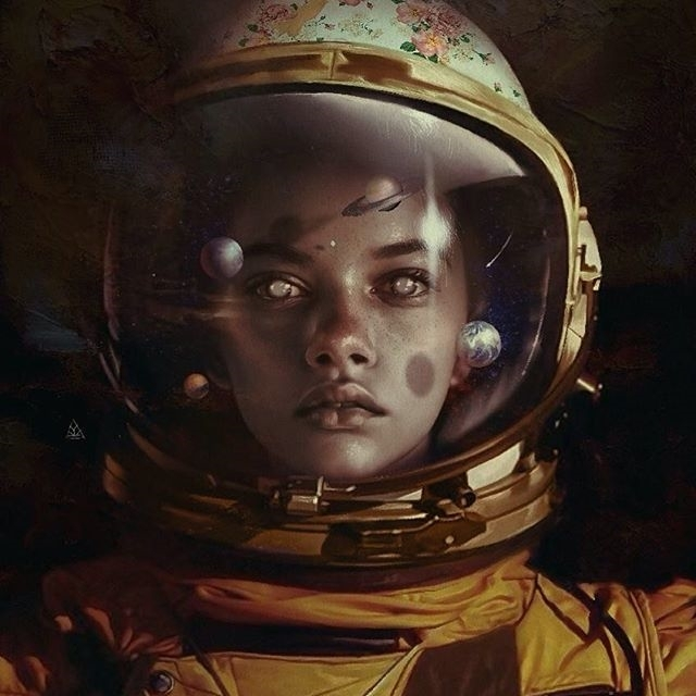 What an illustrator! Some are disturbing, some are great. regram @aykutmaykut i am a dreamer #space#cosmic#flowers#black#portrait#illustration#sketch#draw#digitalart#artwork#artist#painting#arte#wacom#artcollective#artsy#arts_help#arts_gallery##artsxdesign#juxtapoz#wattson#lovewatts#taxcollection#beautifulbizarremagazine#portrait#artcollective#paintguide