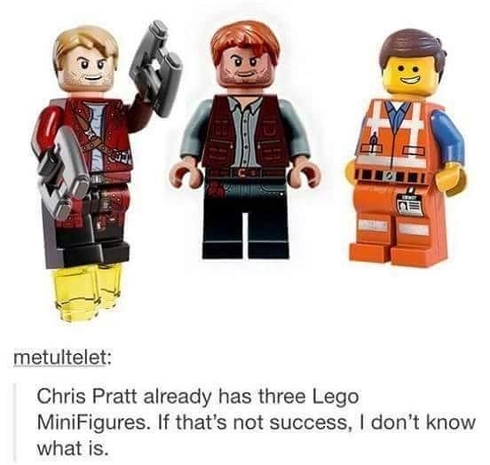 That's a valid milestone. #Lego #minifigures #chrispratt #starlord #everythingisawesome #legomovie #jurassicworld #guardiansofthegalaxy