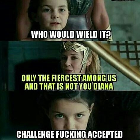 You don't tell Artemis what to do.  #Repost @fire.eyes.roth ・・・ repost via @instarepost20 from @nerdgamer1988 #wonderwoman #dccomics #meme #funny#instarepost20 #Diana #artemis