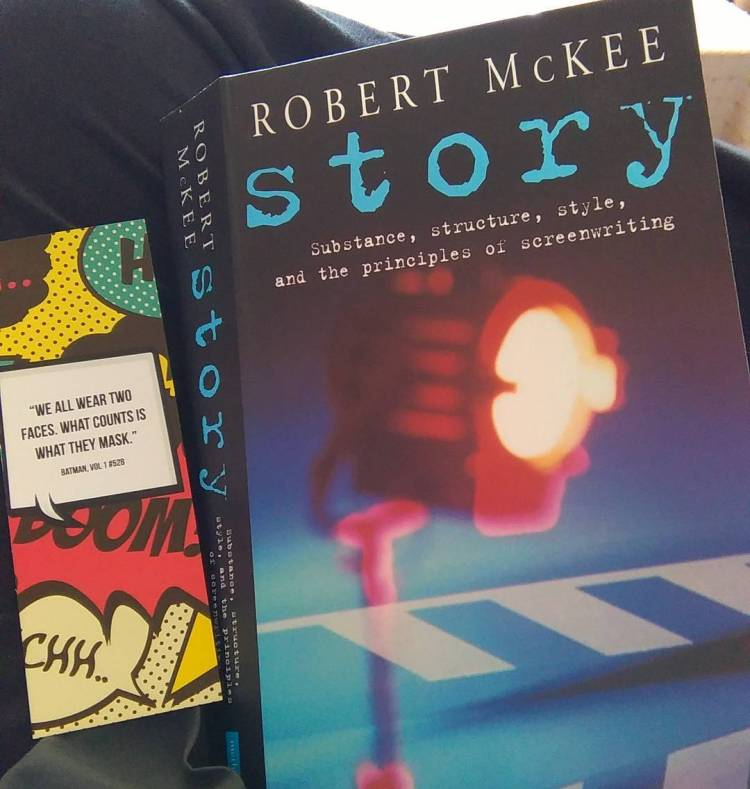Reading Story, by Robert McKee. #amreading #bookstagram #screenwriting #author #screenplay #myth