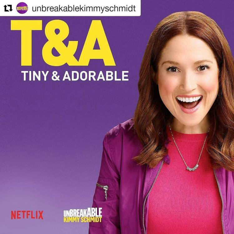 This show is NUTS. I LOVE IT!  #Repost @unbreakablekimmyschmidt ・・・ People may stare, but you know why… #unbreakablekimmyschmidt #netflix