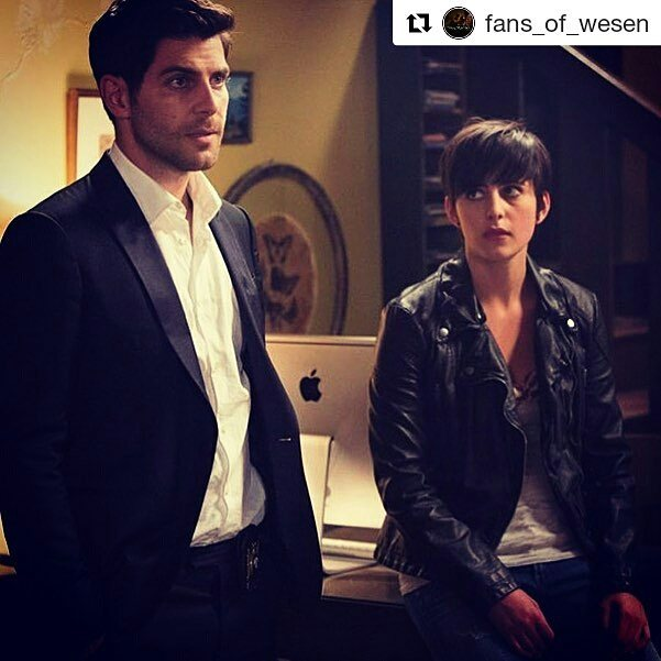 Her name is Truble and she will chop your head off.  #Repost @fans_of_wesen ・・・ #grimm #trubnick #nickburkhardt #truble #netflix