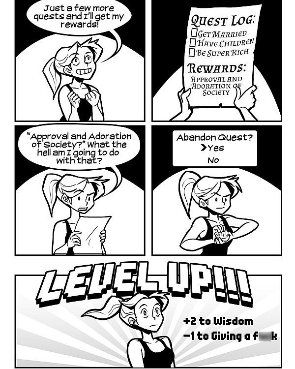 This is me after deciding to dgaf. Had to crop the pic, credit is Draw Write Play – Caroline Dy and Dante Gagelonia. #comic #lol #dgaf #lifegoals #levelup #quarterlifecrisis #thirties