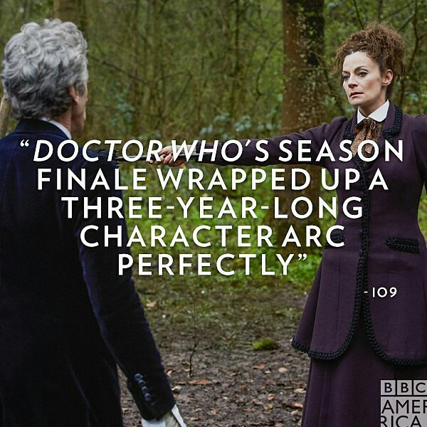 """Yes! The season started strong, then had a couple of silly episodes and finished with a bang. Love it. Can't wait for the Christmas special.  #Repost @doctorwho_bbca ・・・ """"It's taken three years, but he's grown from a man who doesn't care to a man willing to die because he cares so much—and one that, when he's about to regenerate, is so furious at the prospect of becoming someone else and having to potentially re-learn that whole journey again, demands to just die so his growth, his act of kindness, can truly mean something."""" – io9/@gizmodo #DoctorWho #billpotts #capaldi #master #missy"""
