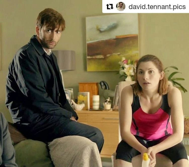 By accident, I delayed watching Broadchurch season 3 and started just after the announcement! So I'm enjoying a little fan fiction in my mind as I watch Jodie Whittaker. Plus, there's Rory there! And David Bradley! And Gwen Cooper from Torchwood! And Olivia Colman! Fuck, it's a Dr who convention out there.  Repost @david.tennant.pics ・・・ wibbly wobbly, timey wimey… stuff #DoctorWho #DavidTennant #JodieWhittaker #tenthdoctor #thirteenthdoctor #10thdoctor #13thdoctor #Broadchurch #AlecHardy #BethLatimer #oliviacolman #gwencooper #torchwood #rorywilliams #arthurdarvill #evemyles #davidbradley #prisonerzero
