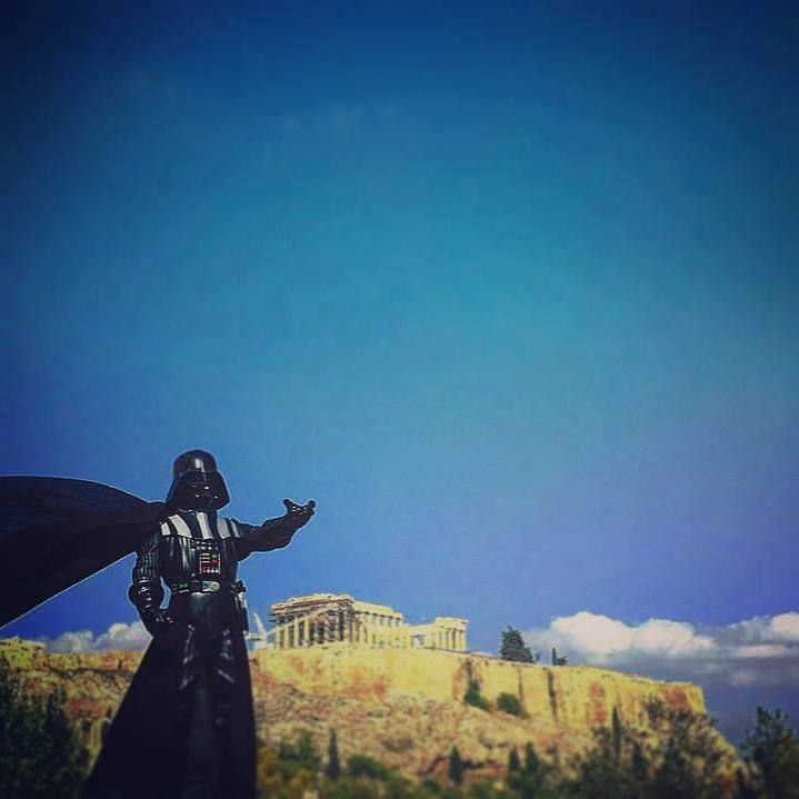 Scifi event in Athens. #intotheunknown #Athens #Parthenon #darthvader  #scifi