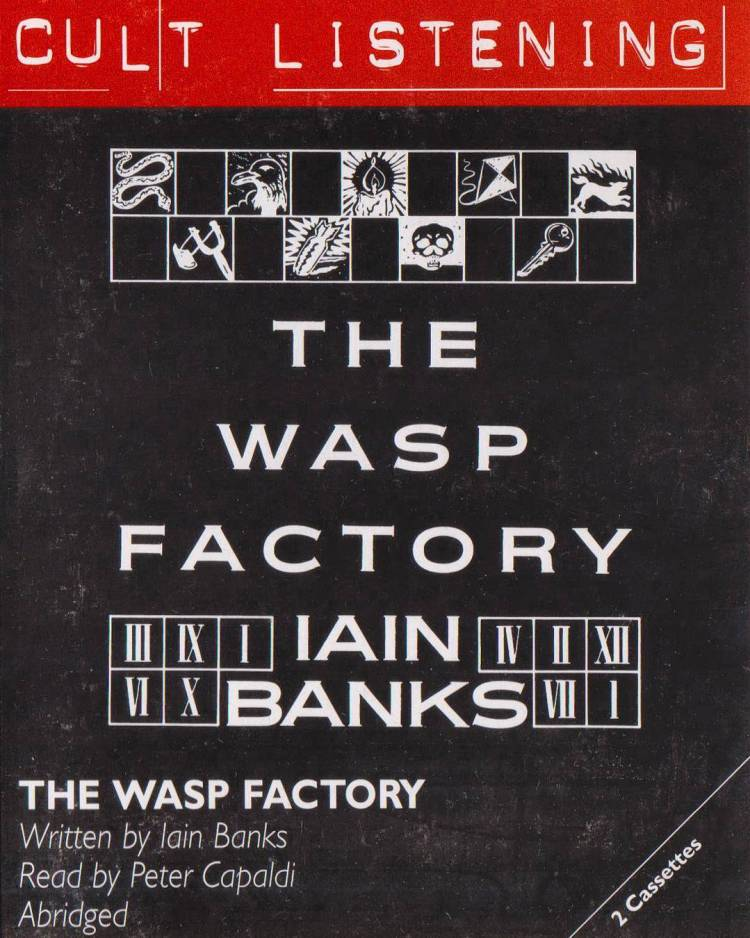 I bought The Wasp Factory on cassette! It's a rare performance by Peter Capaldi. Love it. I'm getting it digitized. #iainbanks #petercapaldi #thewaspfactory #audiobook #narrator #rare #abridged #cassette #audible #sofuckingcrazy