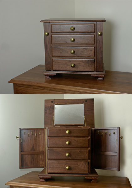 Small Queen Anne Jewelry Armoire - George's Furniture