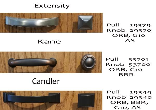 Hardware styles extensity, kane, candler at georges furniture lancaster PA