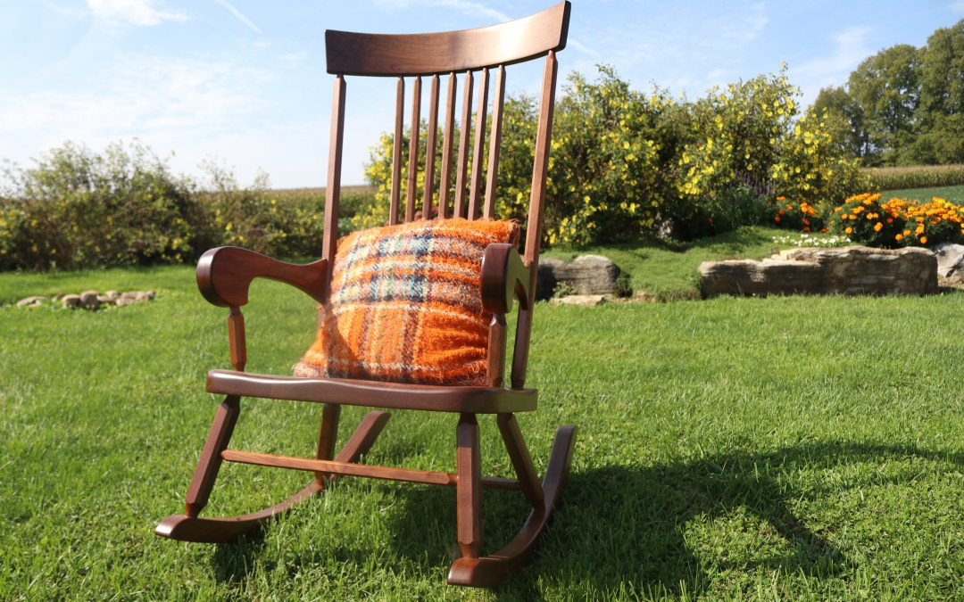 """""""Won't Tip Over"""" Rocking Chair"""