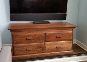 Entertianment Buffet with cove crown walnut wood four drawers