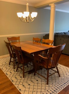Trestle table made at Georges Furniture in lancaster county pa