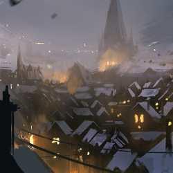 Snowy homes