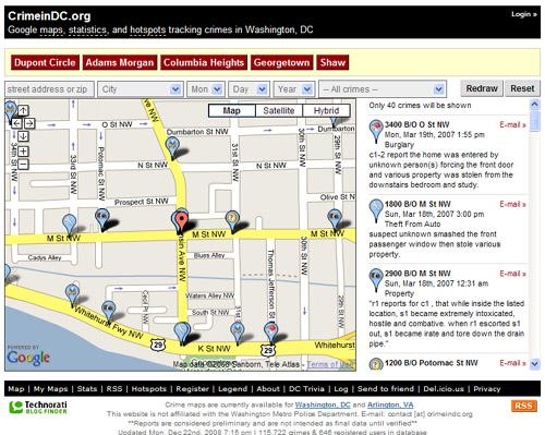 Crime Map Dc Crime Map