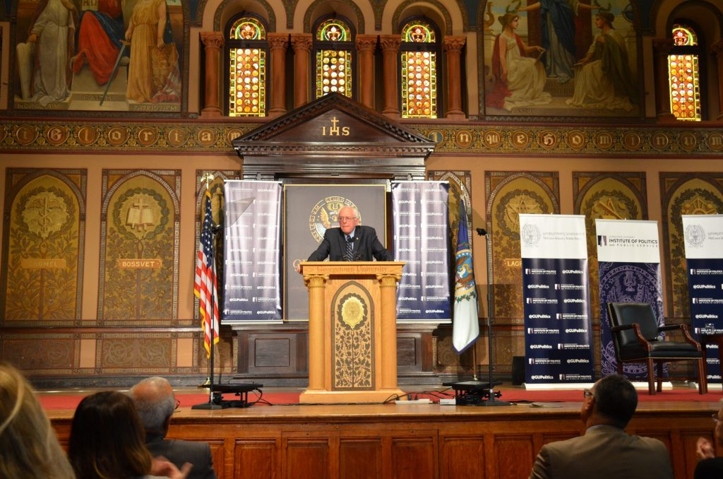 Sanders Discusses and Defends Democratic Socialism at Georgetown