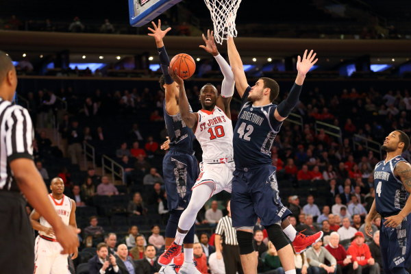 3-SR: Smith-Rivera's 33 points lead Hoyas past St. John's at MSG