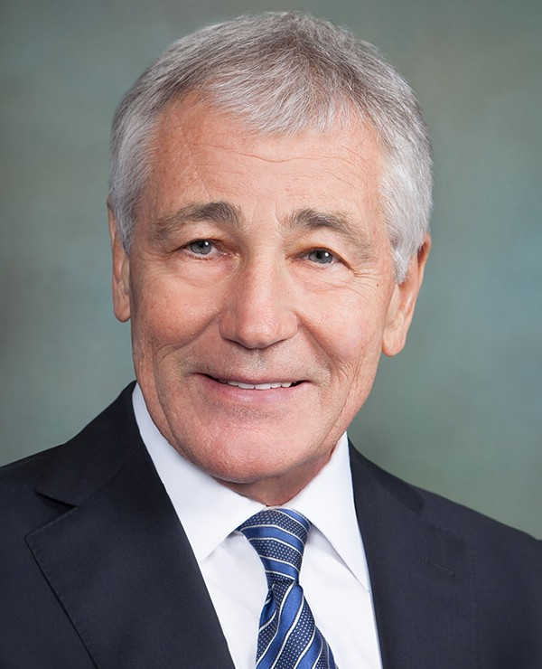 Hagel addresses cybersecurity and military intervention