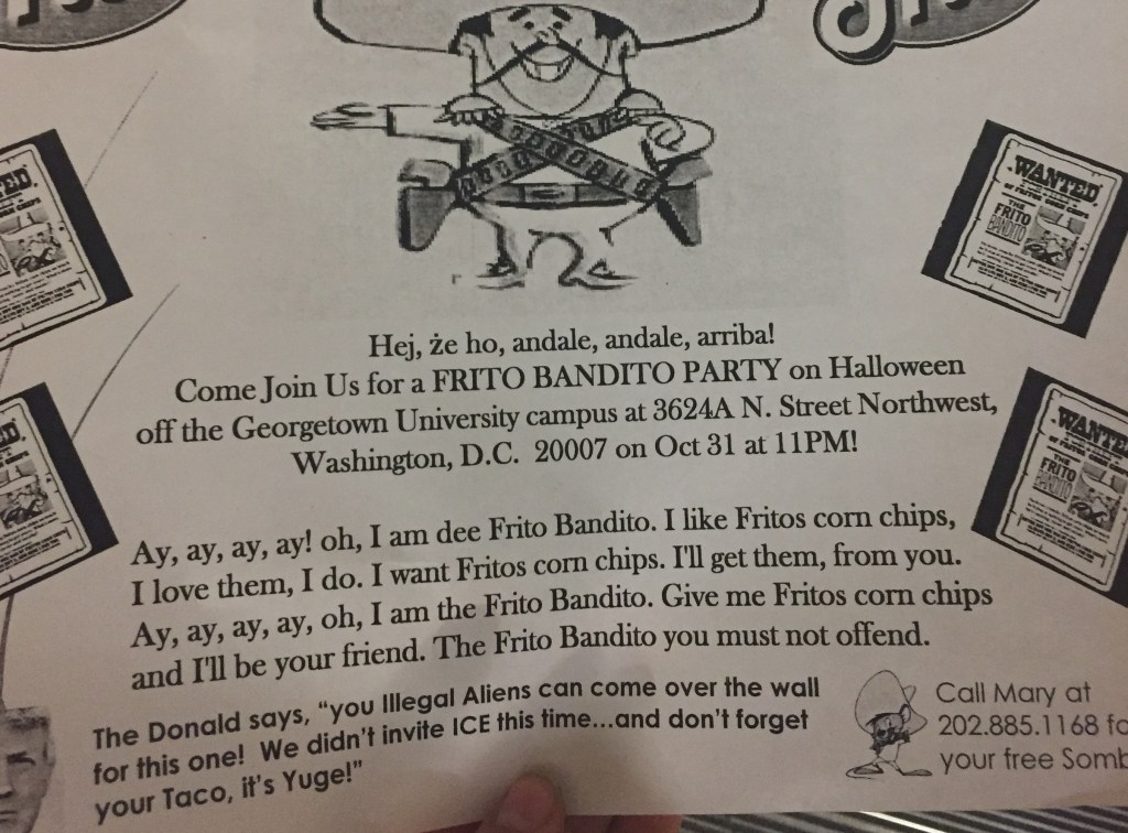 Offensive fliers target Latin American and language programs