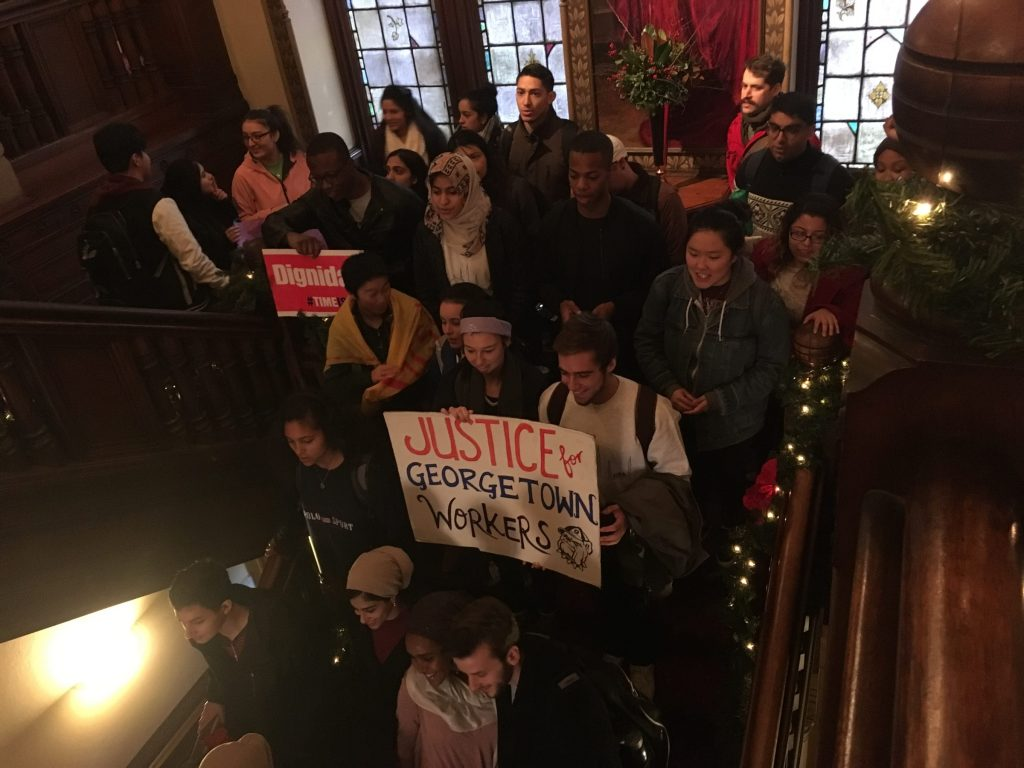 Georgetown Sanctuary Campus Movement holds Solidarity Walk