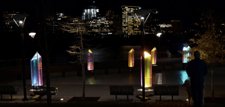 GLOW Exhibit Flickers: The exhibit lights up the neighborhood, but falters as a whole