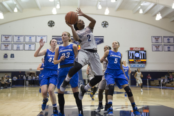 Feeling the Blues: Women's basketball falls to Creighton, snapping Big East winning streak