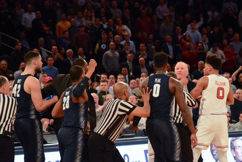 Black and Blue and Gray: Men's basketball's season ends in first round of Big East Tournament
