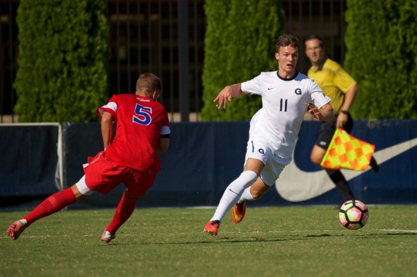 Men's soccer starts season on right foot, beating cross- town rival American