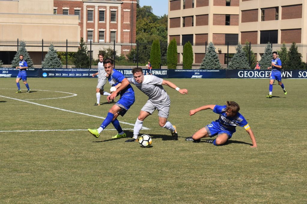 No. 13 Men's Soccer Remains Hot, Cruises to Victory over Seton Hall