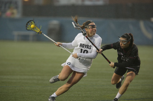 When it rains, it pours: Women's lacrosse wins high scoring season opener
