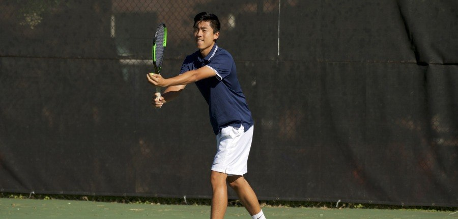 Men's tennis begins conference play with a win