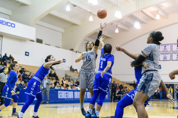 Fighting the Blues: Women's basketball takes on Creighton