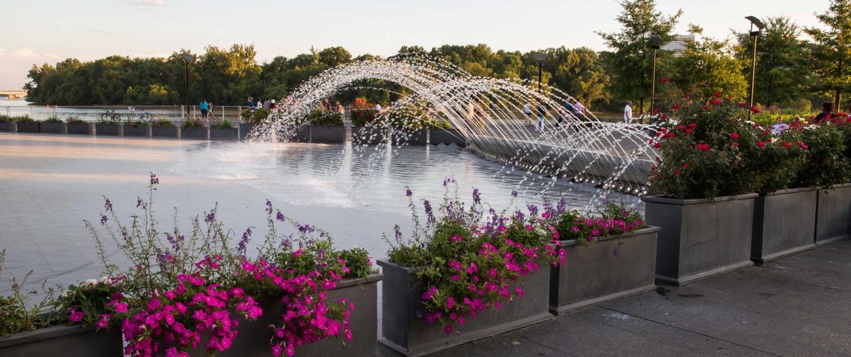 Fountain Splashing Friends Of Georgetown Waterfront Park
