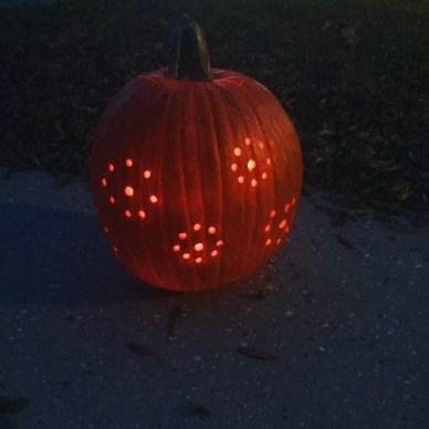 cute drilled pumpkin