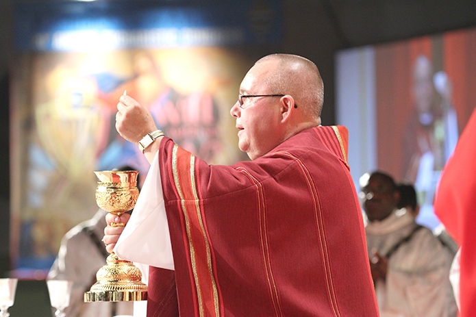 Bishop David P. Talley was the main celebrant and homilist for the opening Mass of the 2016 Eucharistic Congress.