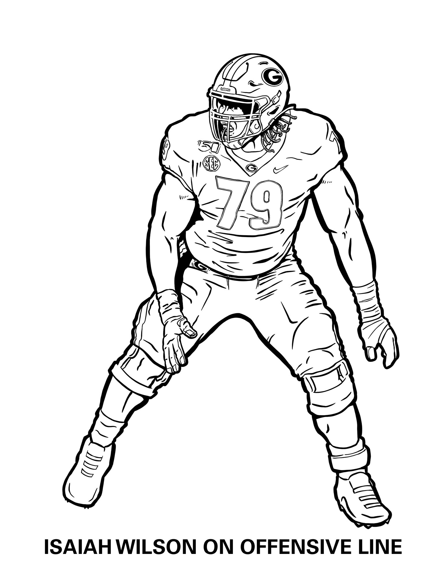 Georgia Bulldogs Coloring Pages University Of Georgia Athletics