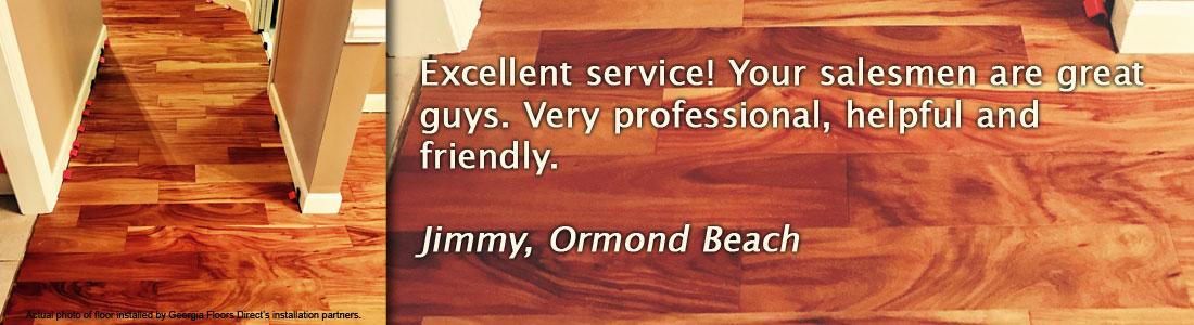 Hardwood flooring testimonial