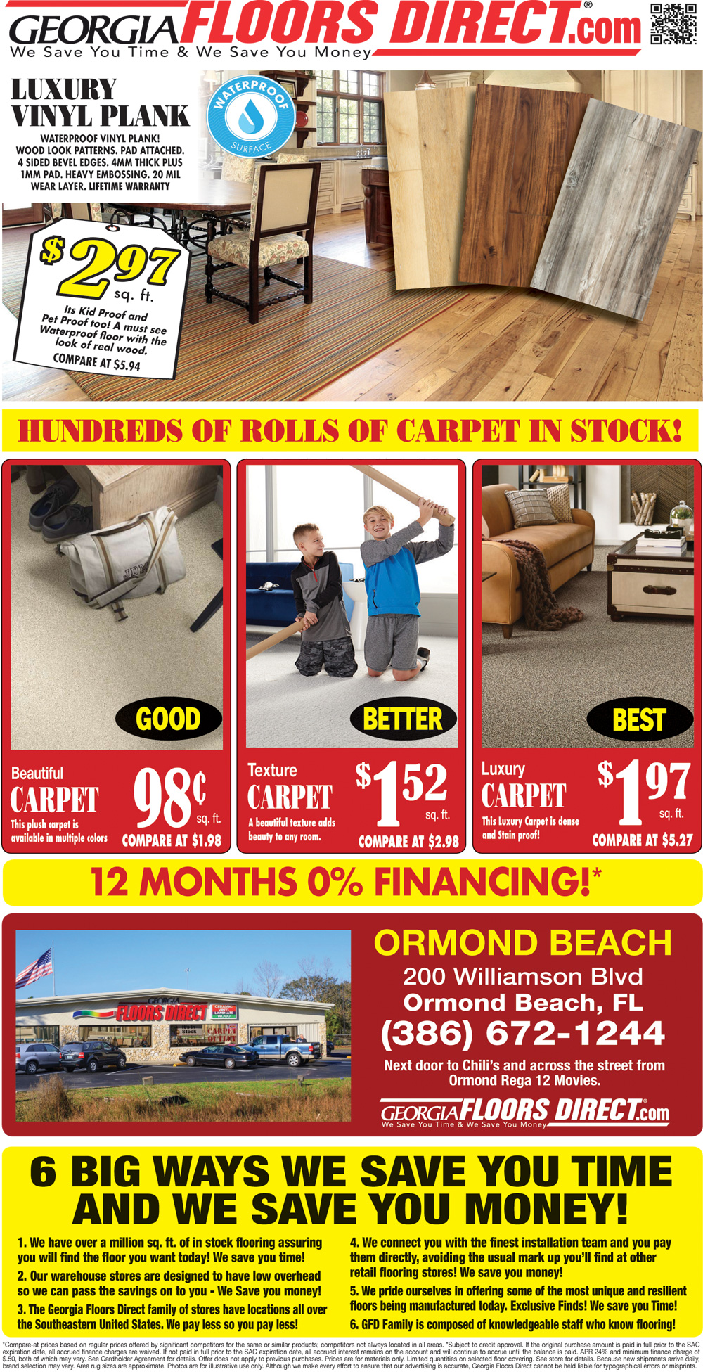 Specials at our Ormond Beach store