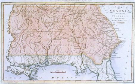 1796 Map of Georgia