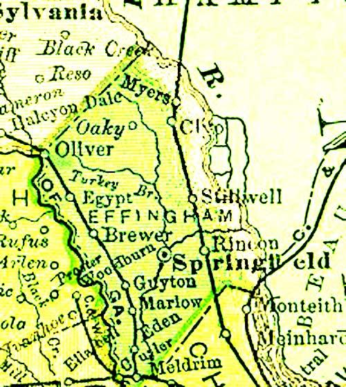 1895 Atlas of Effingham County