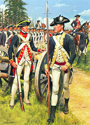 Image result for Revolutionary War soldiers