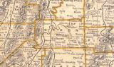 Map image of Gordon County Georgia where John C. Vance relocated