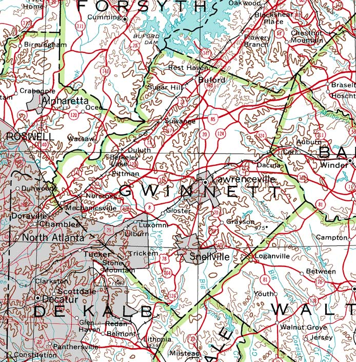 Map Woodstock Ga Historic