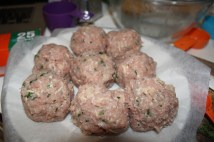 prepped meatballs