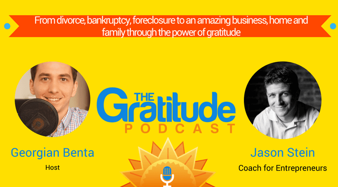 Gratitude, the force that helped Jason Stein get over harsh times